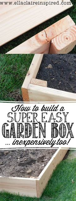 How to Build a Super Easy Garden Box in about 30 minutes. Very inexpensive too!