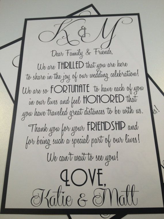 Wedding Welcome Letters by modernsoiree on Etsy, $1.50