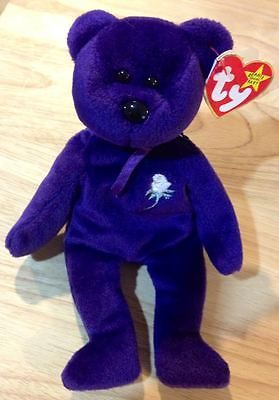 Ty Beanie Baby Princess Diana of Wales 1997 Retired Bear Authentic Original 1997