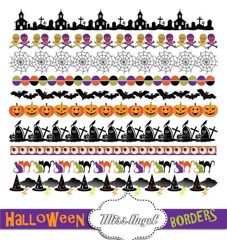Halloween Borders Clip art, Bunting Banners, Halloween