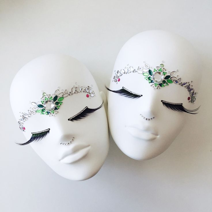 FUSION Collection by More Mannequins #FemaleMannequins #mask #bijoux #eyelashes #crystals #facesticker