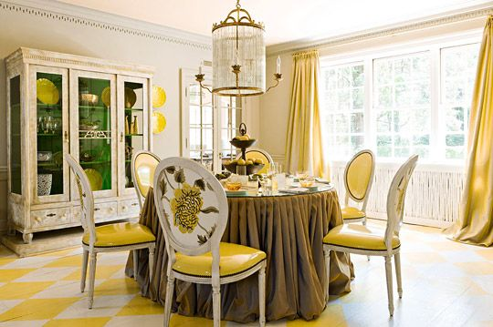 Traditional Home MagazineColors Trends, Dining Room, Home Interiors, Lemon Zest, Dining Chairs, Traditional Home, Yellow Room, Chairs Back, Lemon Yellow