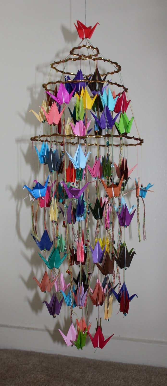 Origami crane crane origami craft ideas - Origami Crane Mobile 4th Make This As Collaboration Art And Give To Homeroom