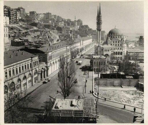Tophane Kışla binaları yıkılmadan önce 1950ler