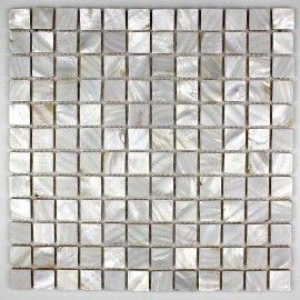 crédence cuisine carrelage douche sol mosaïque douche nacre 23 blanc