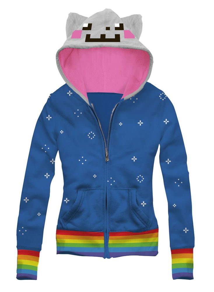 Nyan Cat Costume Hoodie Rainbow Cat,Kitty,Kawaii,Fruits,Flying,Funny,Cute,N4-001 in Clothes, Shoes & Accessories, Women's Clothing, Hoodies & Sweats | eBay