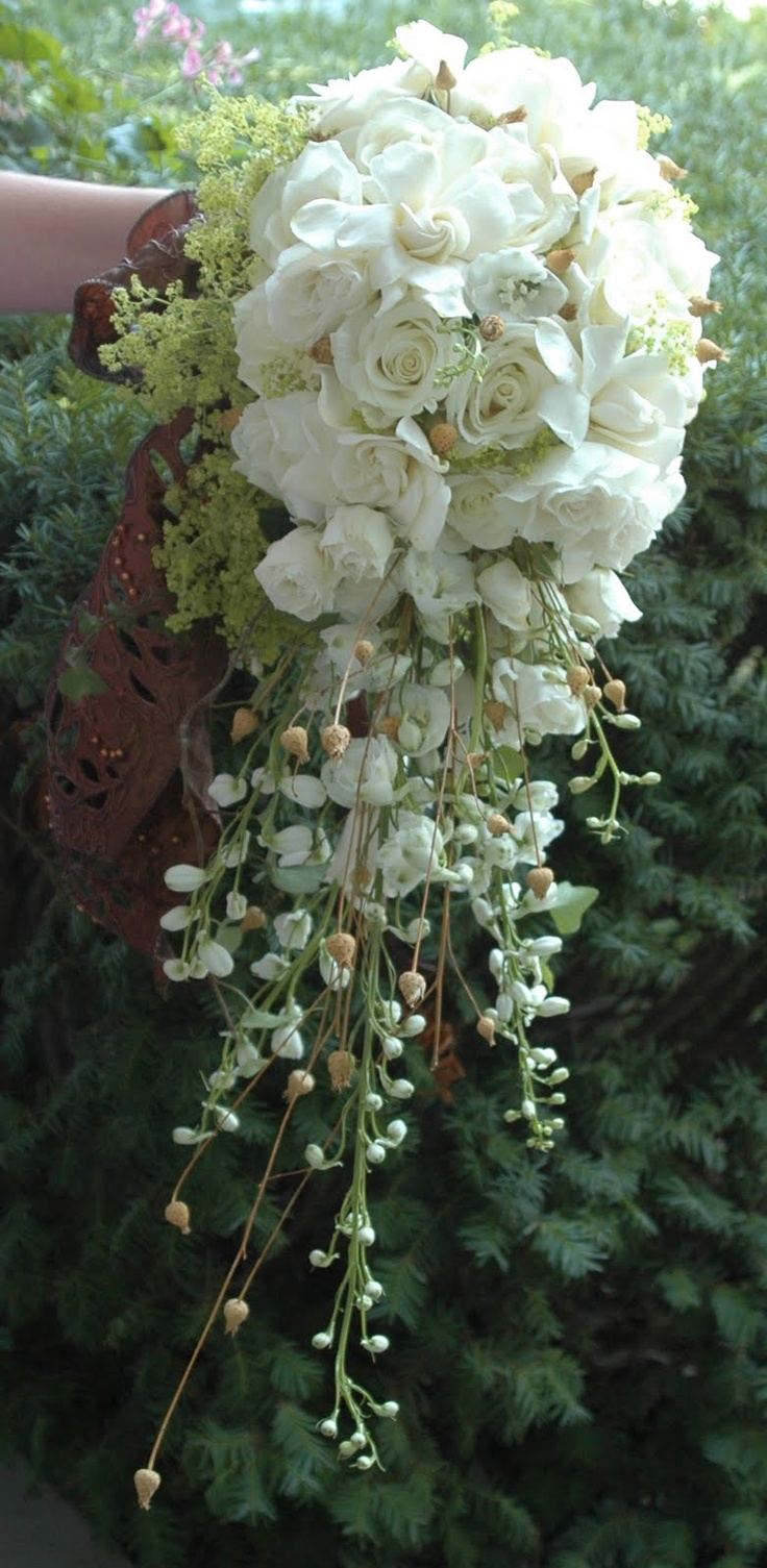 62 best waterfall wedding bouquet images on pinterest wedding bouquets bridal bouquets and. Black Bedroom Furniture Sets. Home Design Ideas