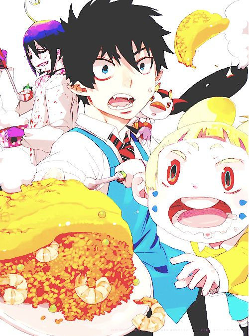 Blue Exorcist movie! So sweet! Usamaru!