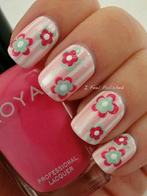 72 best nails images on pinterest nail scissors nail striped and flower nail art design prinsesfo Image collections