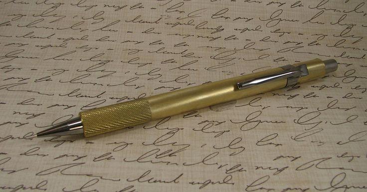 Handmade Brushed Brass Pentel Mechanical Pencil by RichardAltenhofen on Etsy