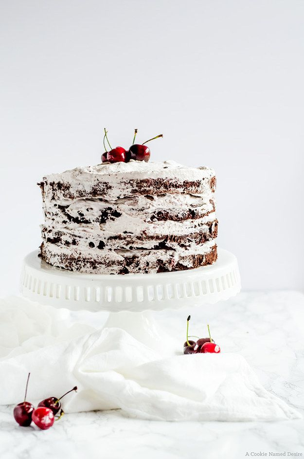 Chocolate Cherry Cake   Community Post: 25 Layered Cakes That Are On A Whole Different Level