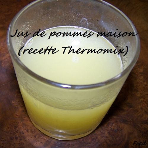 Jus de pommes maison (recette Thermomix) -