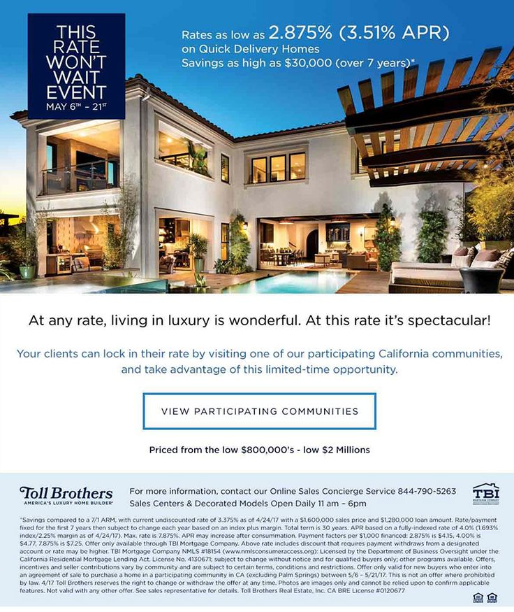 37 best Toll Brothers National Sales Events images on Pinterest - home for sale brochure
