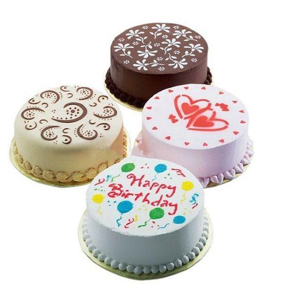 4 PCs Round Fondant Cake Decorating Sugarcraft Mold by HNGFan