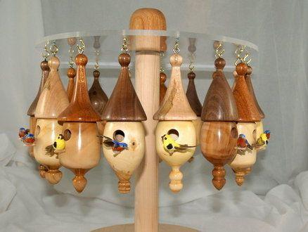 Miniature Birdhouse Ornaments