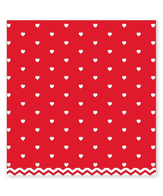 Red Chevron Art Paper - Set of 12