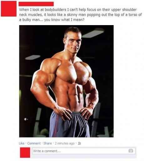 Caras fisiculturistas de corpos musculares impressionantes na verdade têm uma aparência hilária.