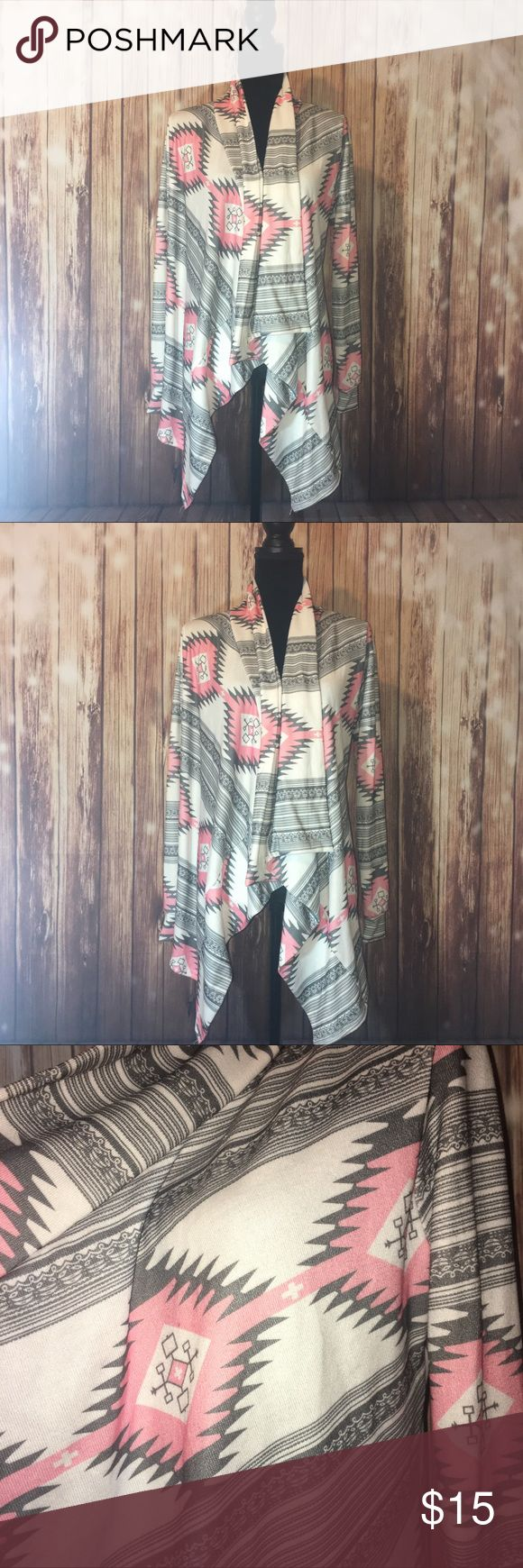 Basic Open Tribal Cardigan Basic Open Tribal Cardigan is in a size medium. Very unique simple item. Sweaters Cardigans