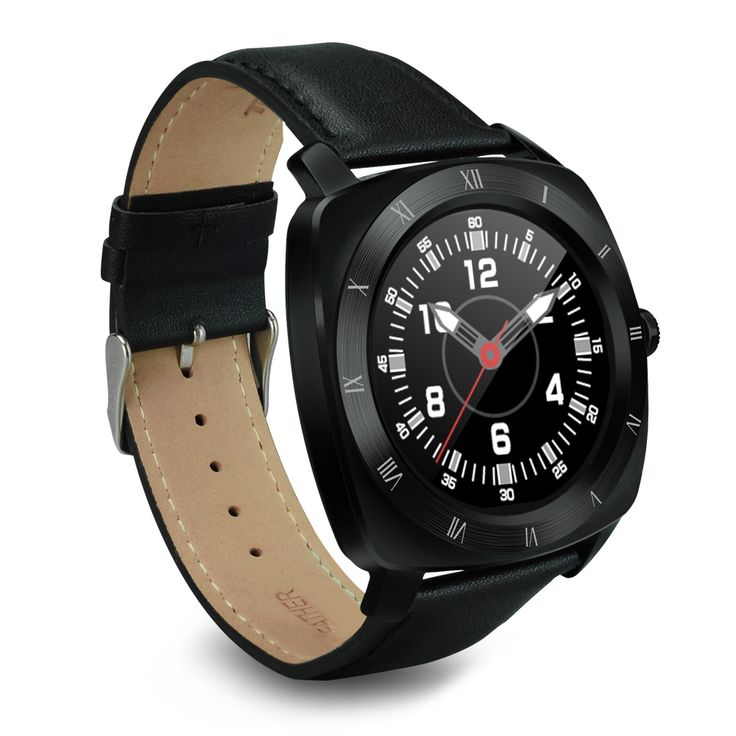 DM88 Smart Watch Round Display Leather Strap Bluetooth Smartwatch Support Heart Rate Monitor For IOS Android Smartphone   Shop Now! - WorldOfTablet.com