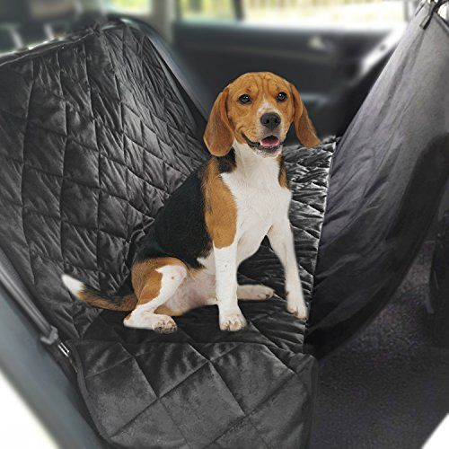 Norsens Back Dog Seat Covers for Cars LargeBlack Micro-suede Dog Hammock Water Resistant