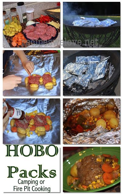 Recipes We Love: Hobo Packs ( cooking in the fire). You can do this in the oven too. Kids will love helping you put them together. Family time cooking.