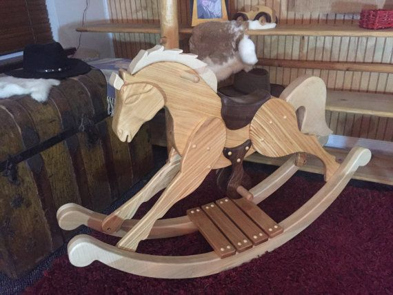 Awesome Your Child Will Fall In Love With This Handmade Rocking Horse Palomino In  Full Gallop .