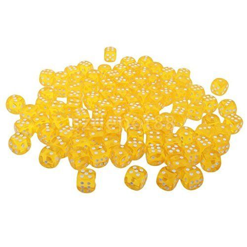 100pcs Yellow Six Sided D6 Dice Playing D&D Warhammer RPG Board Game Favours. #Yellow #Sided #Dice #Playing #Warhammer #Board #Game #Favours