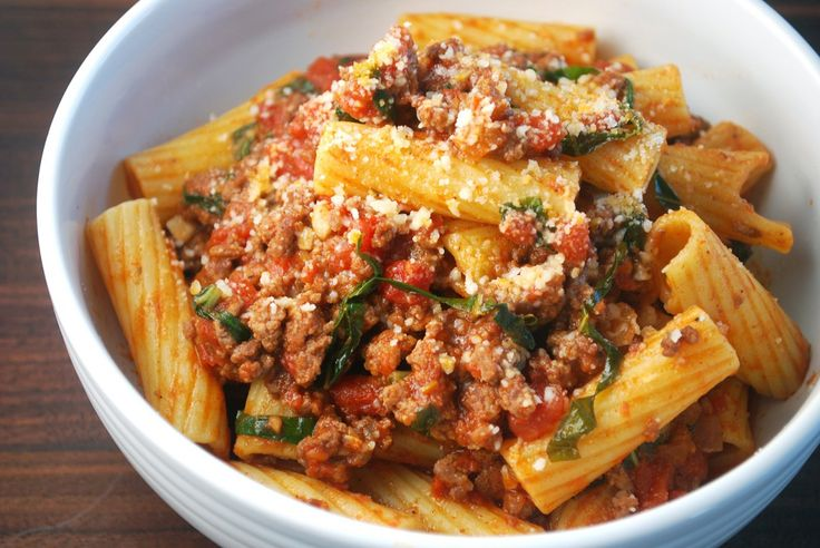 Beef Sauce Rigatoni | Belly Warmers | Pinterest