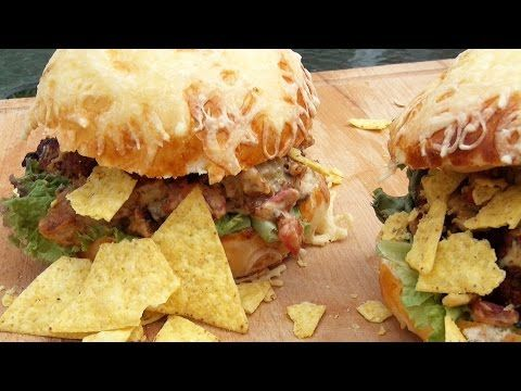 Jalapeño Cheese Steak Burger - YouTube