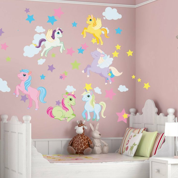 Magical Unicorn Wall Decal Kit By Sticker Hub Ariana 39 S Nursery Pinterest