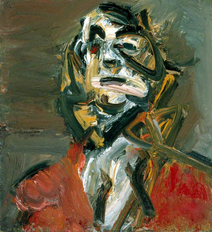 Frank Auerbach - JYM1 Date painted: 1981 Oil on board, 73.2 x 68.2 cm