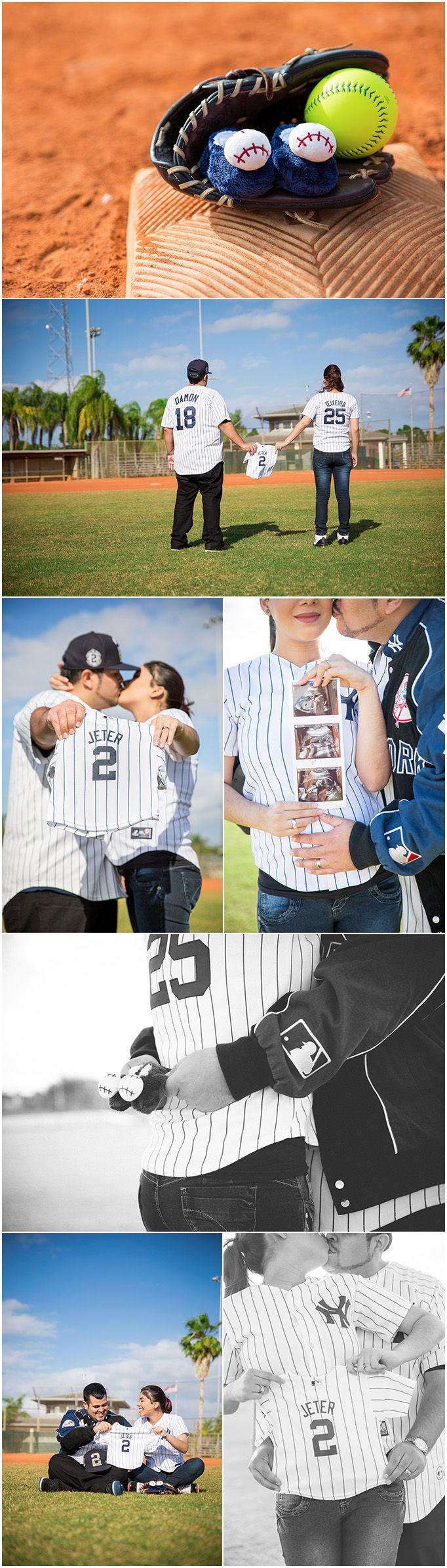 Baseball Gender Reveal Photography