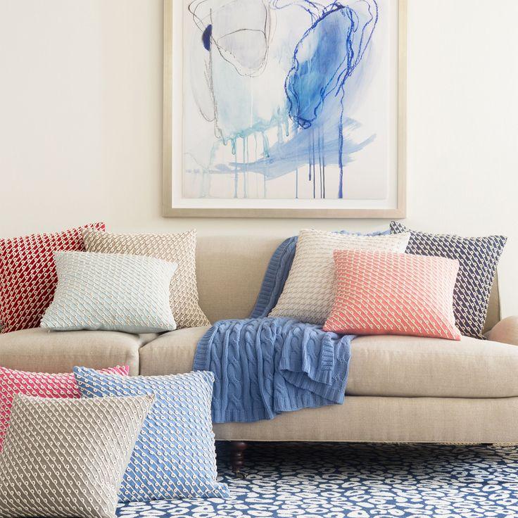 Pine Cone Hill Chadna White Decorative Pillow @LaylaGrayce