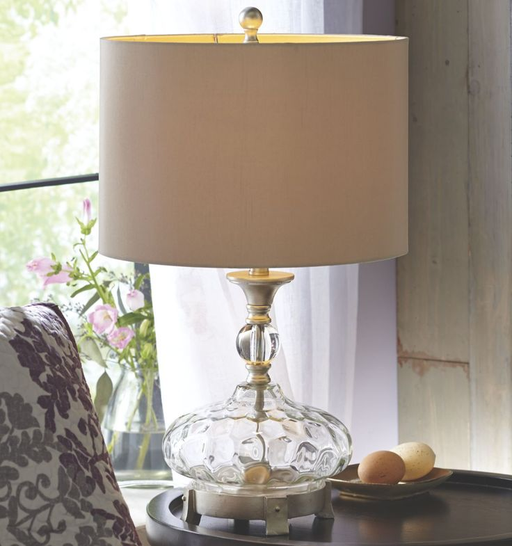 Lighten up your bedroom room with an eye catching glass for Bedroom touch table lamps