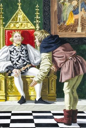 1.- The miller offered his daughter to the King to appear an important person, telling him his daughter could spin straw into gold