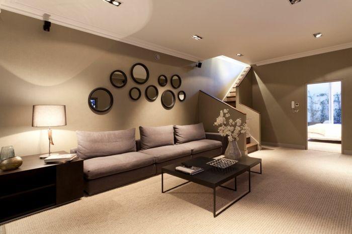 Wohnzimmer Braun - 60 Möglichkeiten, wie Sie ein braunes Wohnzimmer gestalten