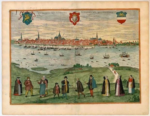 The Mecklenburgish Hanseatic City of Rostock, city of the Vandals - 1598