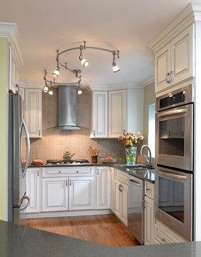 Small Kitchen Design. Light colors.