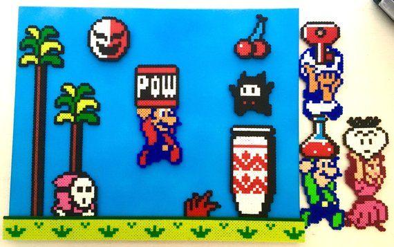 Super Mario Bros 2 Scene W Interchangeable Characters 8 Bit