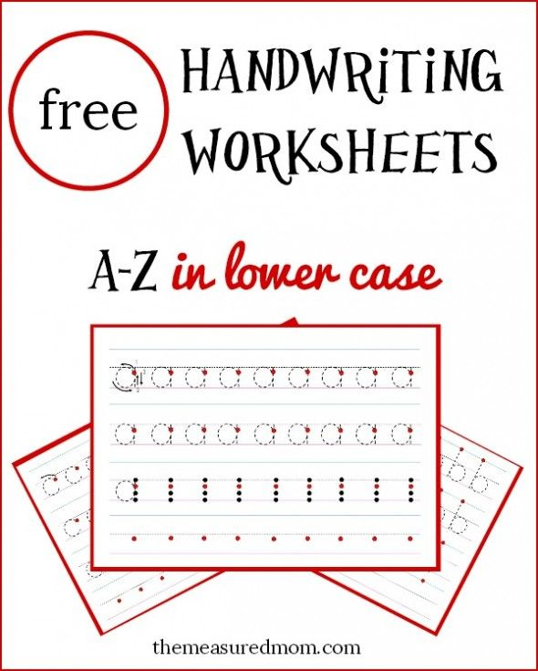 26 FREE a to z handwriting worksheets in lowercase! These are designed to give a lot of support at the top of the page and have your child do more independent writing at the end.