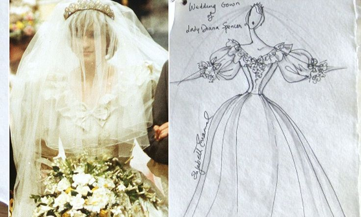 Elizabeth Emanuel's scrapbook from Diana and Charles's wedding - including swatches from Di's gown - set to fetch £5,000 at auction