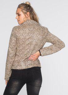 Leopar Görünümde Blazer Ceket, RAINBOW, siyah/kahverengi leopar desenli