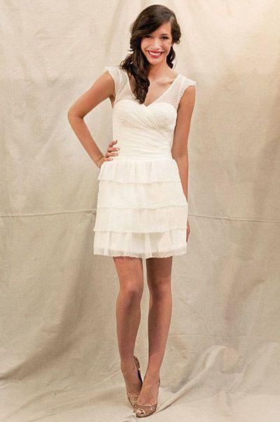 Rehearsal dress/Reception #dress. #short