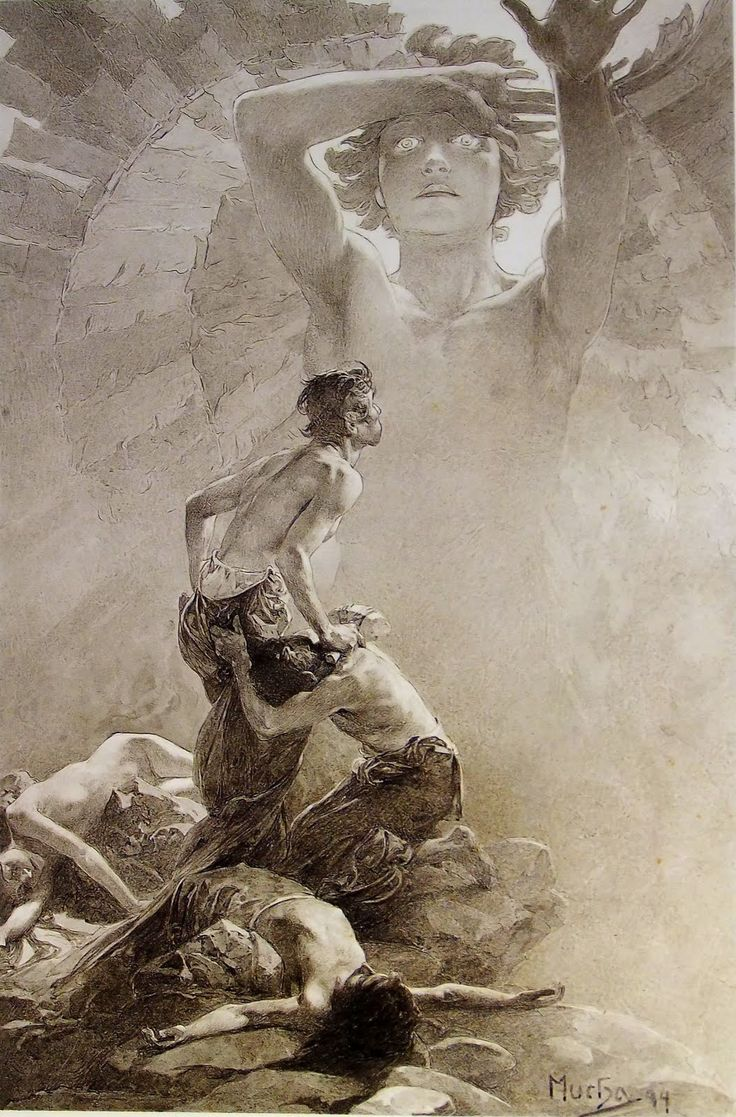 surface fragments: Alphonse Mucha, 'Le Pater' Part I