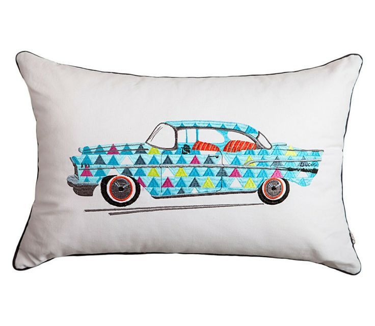 Zoom zoom zoom. Go places with this Kas Drive cushion from http://www.beddingco.com.au/kas-drive-cushion.html