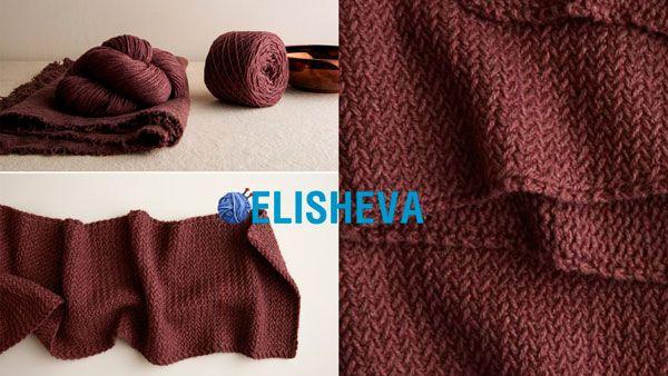 "Модный шарф ""Мини-ёлочки"" + ВИДЕО МК узора | Блог elisheva.ru"