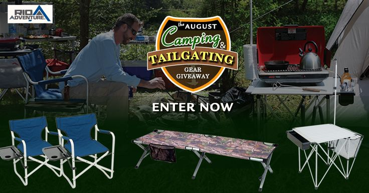 Go camping and tailgating in style this Fall with RIO Adventure Camping and Tailgating gear. There will be 5 lucky winners. Enter NOW…