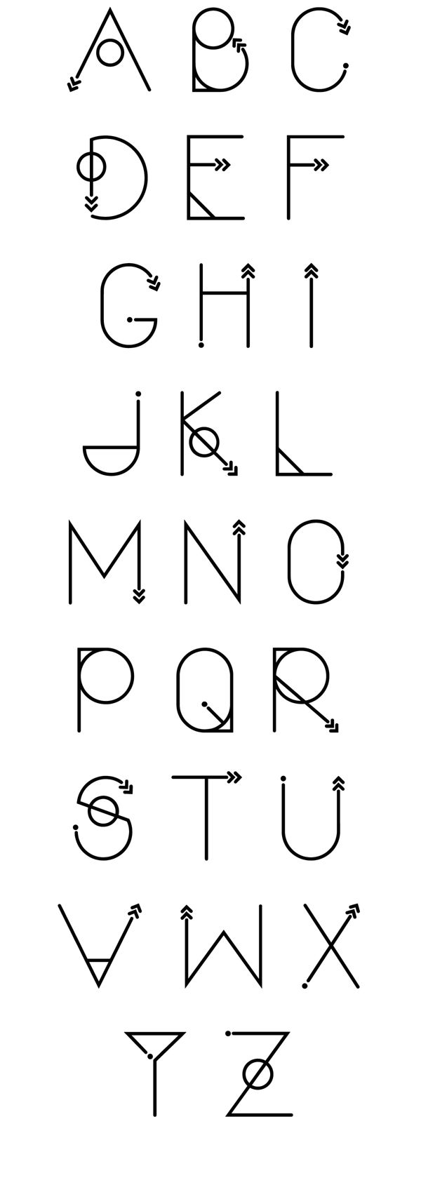Typeface: Polar Vertex by Katharine Howard, via Behance