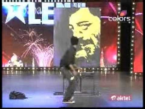 INDIA's GOT TALENT 2011 - GABBAR 5 FEET PAINTING IN 3 MINUTES