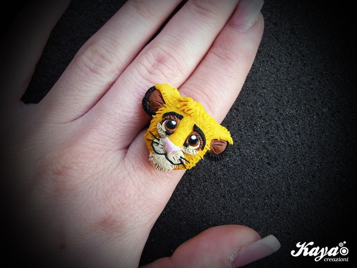 "Anello Simba da ""il Re leone"" - fimo Simba ring from ""The Lion King"" - polymer clay  #disney #thelionking #lionking #circleoflife #ilreleone #releone #simba #cerchiodellavita #hakunamatata #timonandpumbaa #timonepumbaa #rafiki #nala #zazu #scar #pumbaa #timon #lion #leone #instadisney #disneystore #noworries #roar #eltonjohn #disneytattoo #rememberwhoyouare   Kaya Creazioni http://www.facebook.com/KayaCreazioni"